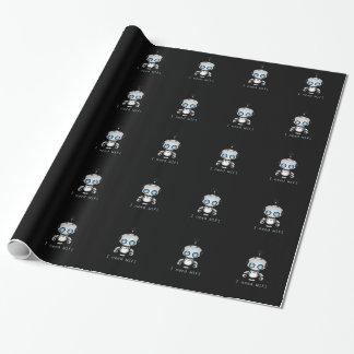 Robot mignon papier cadeau