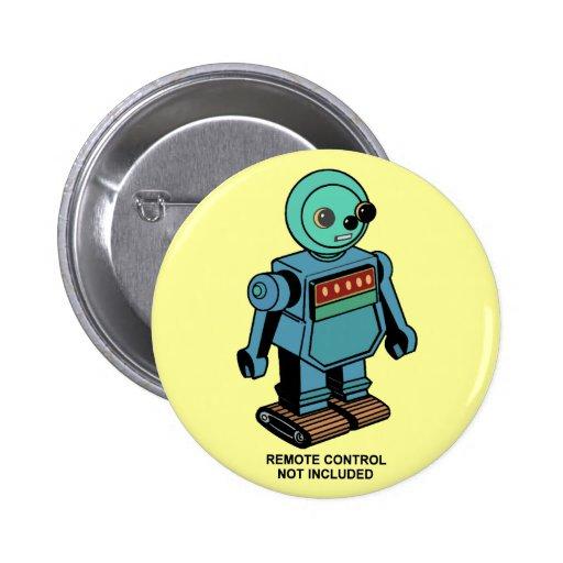 Robot non inclus à télécommande pin's avec agrafe
