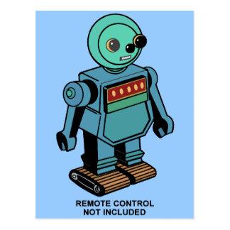 Robot non inclus à télécommande cartes postales