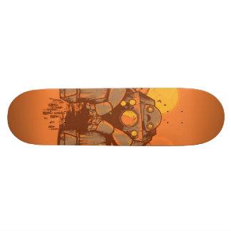 Robot rouillé plateaux de skateboards customisés