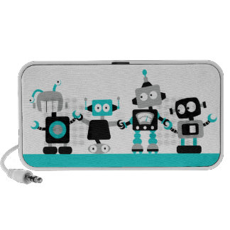 Robots - bleu haut-parleur iPod