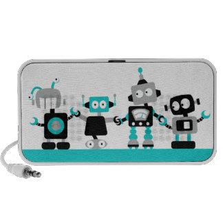 Robots - bleu haut-parleur ordinateur portable