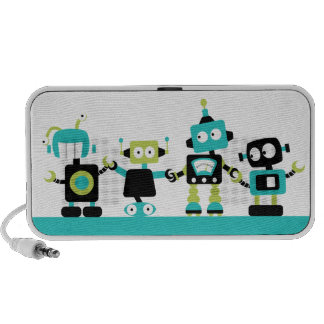 Robots - bleu/vert haut-parleurs iPod