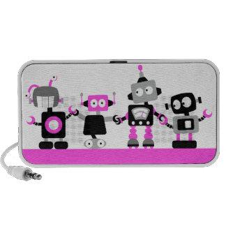 Robots - rose haut-parleurs iPhone
