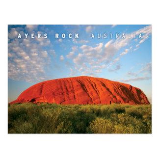 roche d'ayers en australie carte postale