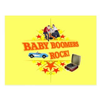 Roche de baby boomers carte postale