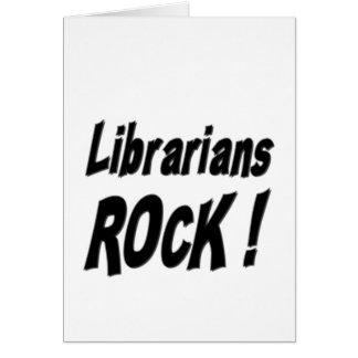 Roche de bibliothécaires ! Carte de voeux