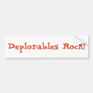 Roche de Deplorables ! Autocollant Pour Voiture
