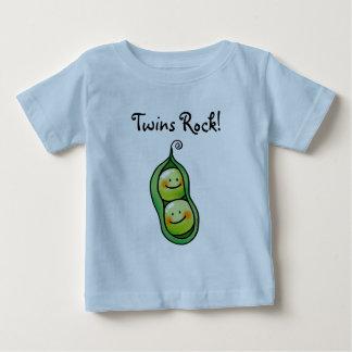 Roche de jumeaux t-shirt pour bébé