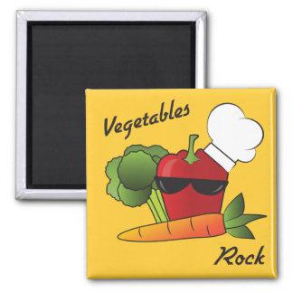 Roche de légumes aimant