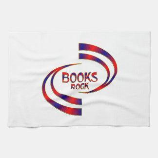 Roche de livres serviettes pour les mains