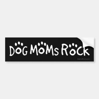 Roche de mamans de chien autocollant de voiture