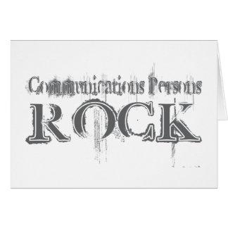 Roche de personnes de communications carte de vœux