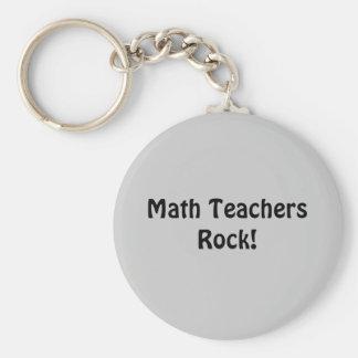 Roche de professeurs de maths ! porte-clé rond