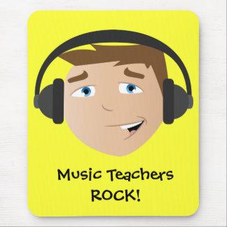 Roche de professeurs de musique tapis de souris