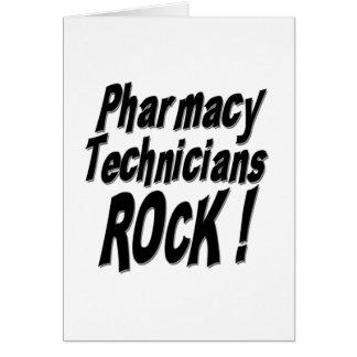 Roche de techniciens de pharmacie ! Carte de voeux