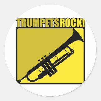Roche de trompettes ! adhésifs ronds