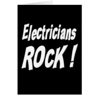 Roche d'électriciens ! Carte de voeux