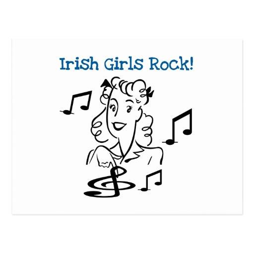 Roche irlandaise de filles carte postale