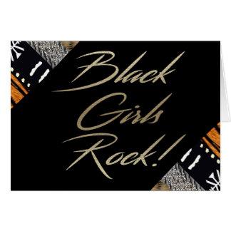 Roche noire de filles ! carte de vœux