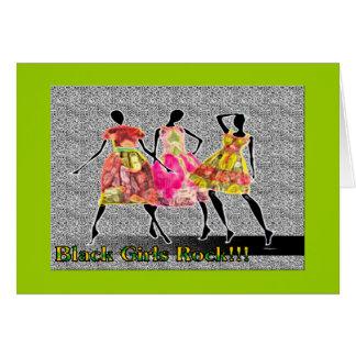 Roche noire de filles carte de vœux