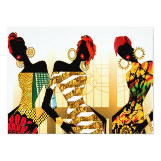 Roche noire de filles carton d'invitation  13,97 cm x 19,05 cm