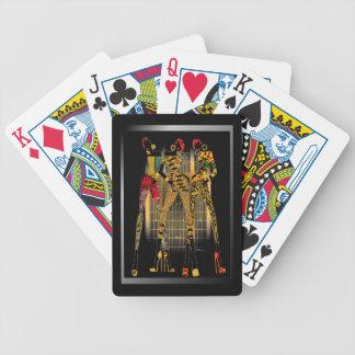 Roche noire de filles jeux de poker