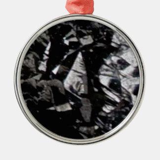 roche noire de lustre ornement rond argenté