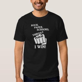 Roche, papier, ciseaux, poinçon de gorge ! Je T-shirt
