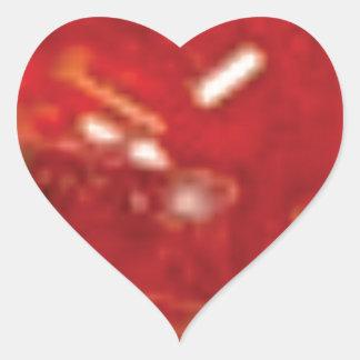 roche rouge de fracture sticker cœur