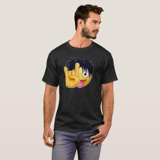 Roche sur des cheveux de transitoire d'Emojis T-shirt
