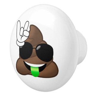Roche sur la dunette d'Emoji Bouton De Porte En Céramique