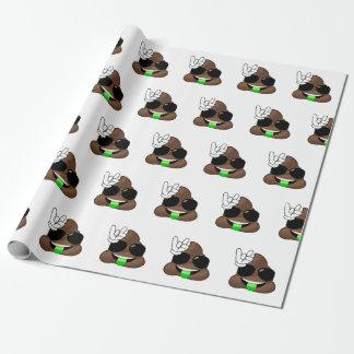 Roche sur la dunette d'Emoji Papiers Cadeaux Noël