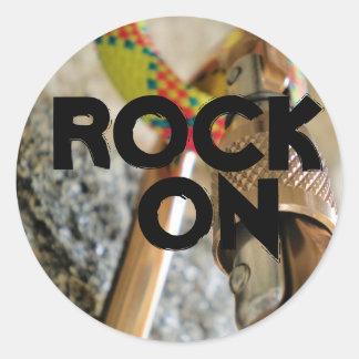 roche sur… l'autocollant d'escalade sticker rond