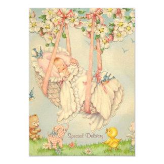 Roche-un-par le faire-part de naissance de bébé carton d'invitation  12,7 cm x 17,78 cm