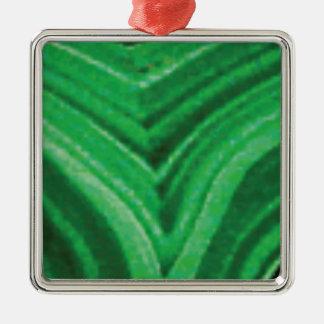 roche verte de cale ornement carré argenté