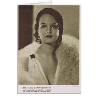 Rochelle le Hudson 1932 portraits vintages Carte De Vœux