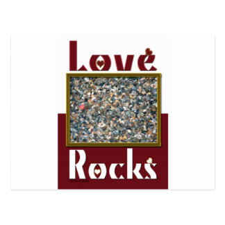 Roches d'amour carte postale
