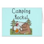 Roches de camping cartes de vœux