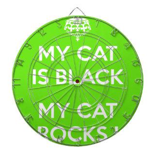 Roches de chat noir cible de fléchettes