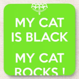 Roches de chat noir dessous-de-verre