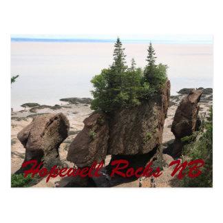 Roches de Hopewell pendant la marée basse NOTA: Cartes Postales