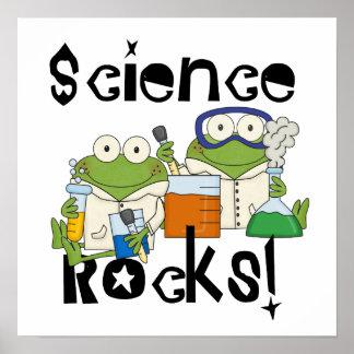 Roches de la Science de grenouilles Poster
