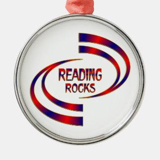 Roches de lecture ornement rond argenté