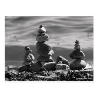 Roches de zen carte postale