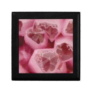 roches roses de pierres petite boîte à bijoux carrée