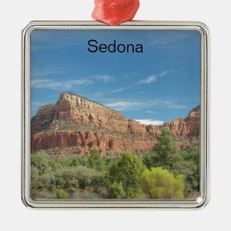 Roches rouges dans Sedona Ornement Carré Argenté