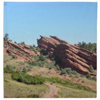 roches rouges en Morrison, le Colorado Serviettes De Table