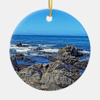 Roches sur le beach01 ornement rond en céramique