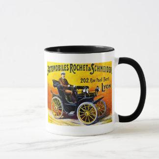 Rochet et automobiles de Schneider - annonce Tasse